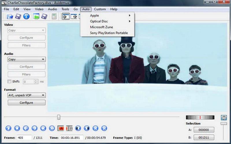 Avidemux giúp bạn chỉnh sửa video miễn phí