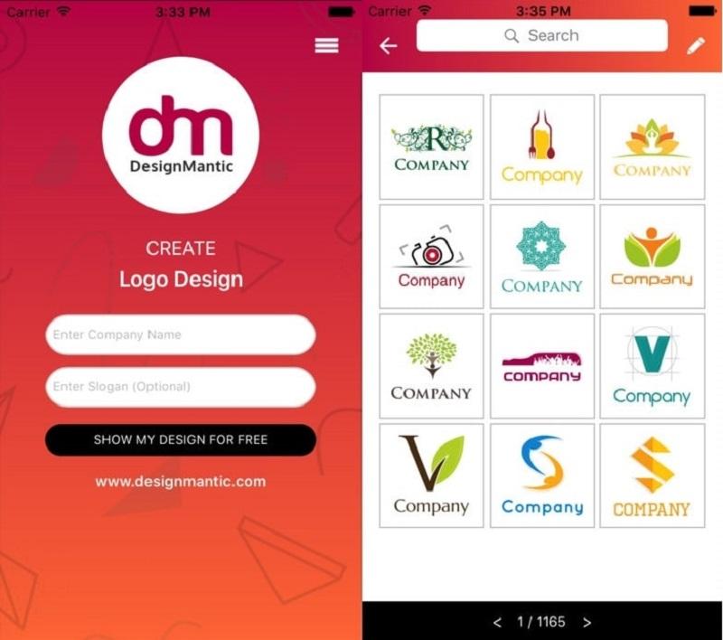 app thiết kế logo designmantic