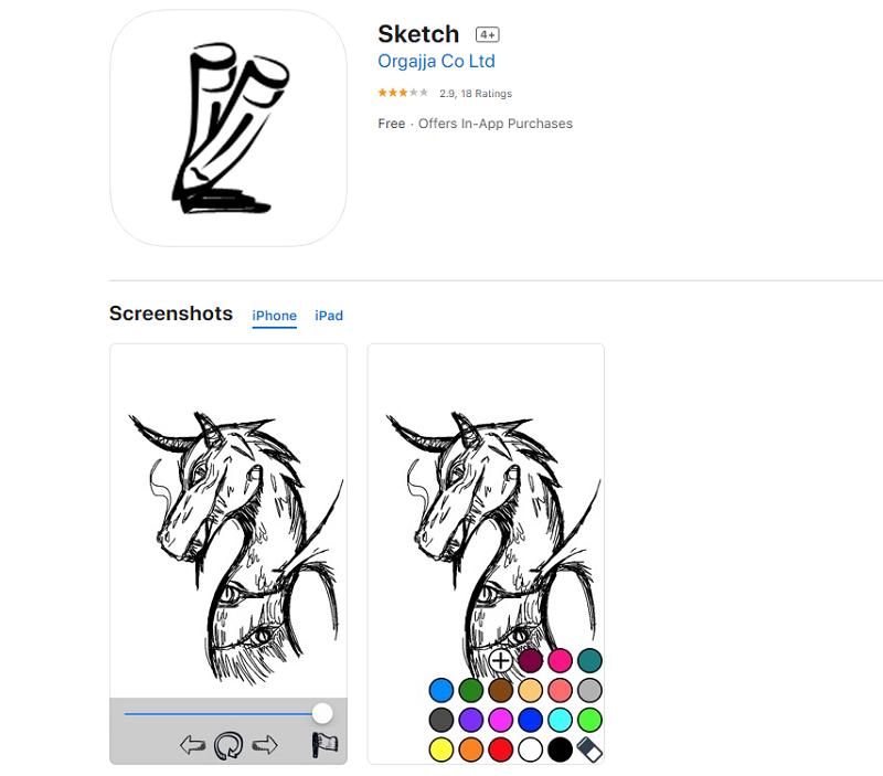 app thiết kế Logo Sketch