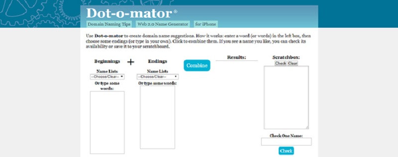 phần mềm đặt tên Dot-o-mator