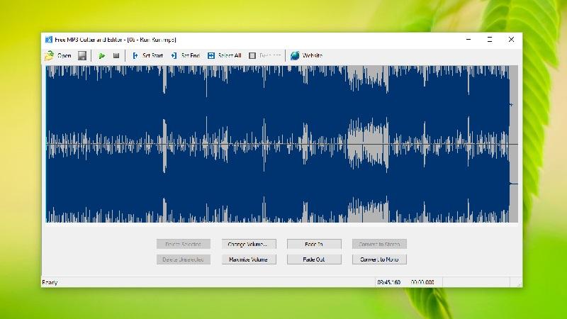 Phần mềm có nhiều ưu điểm Free MP3 Cutter and Editor