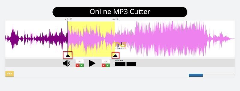 Phần mềm cắt nhạc Online MP3 Cutter