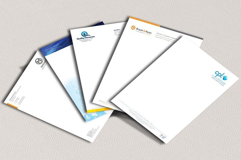Thiết kế giấy tiêu đề tinh tế phù hợp đặc trưng doanh nghiệp