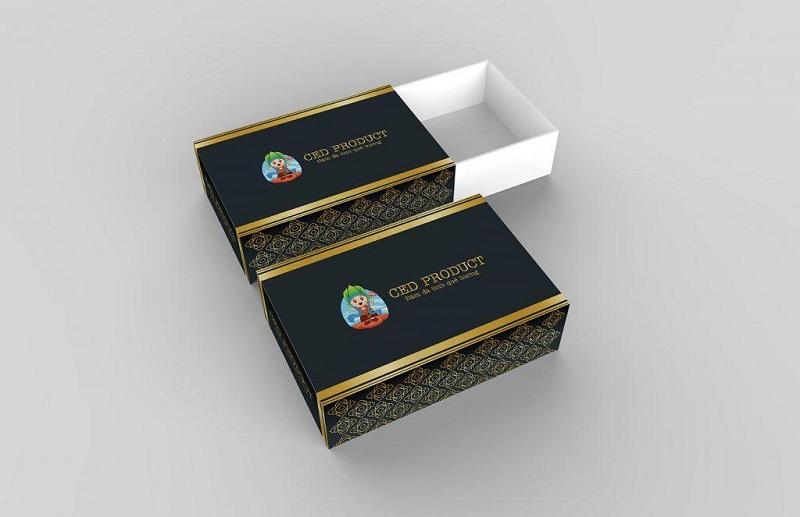 Ý tưởng hộp quà kích thước nhỏ màu đen