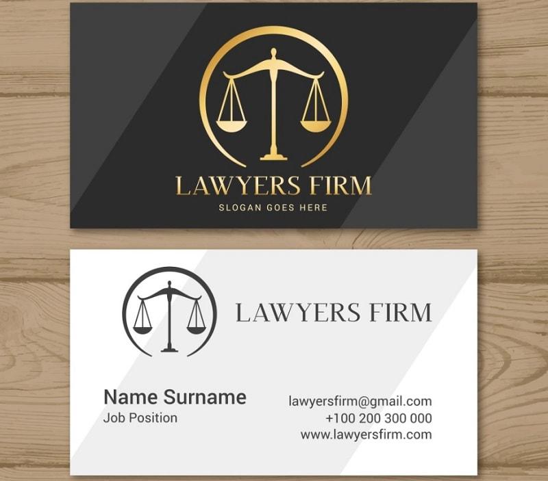 Thiết kế danh thiếp cho luật sư sang trọng