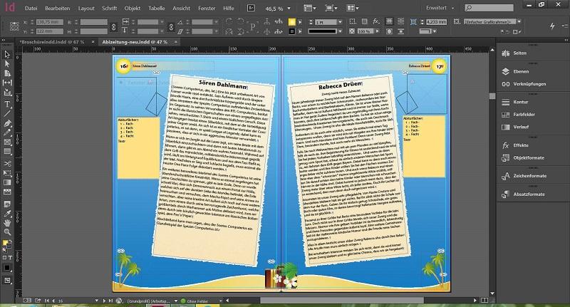 Hình ảnh của phần mềm Adobe Indesign