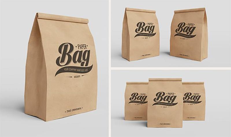 Túi giấy Kraft được thiết kế theo nhiều kiểu cách
