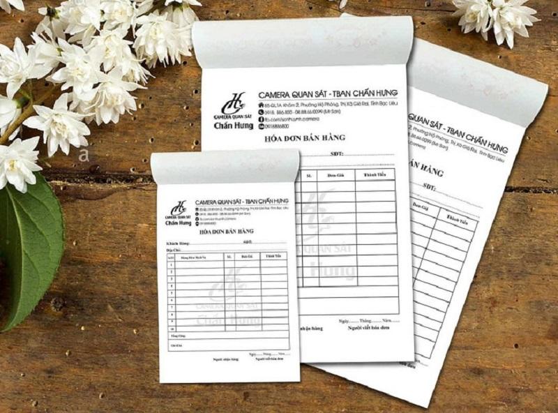 Mẫu 5: Thiết kế hóa đơn bán hàng đơn giản dễ kiểm soát