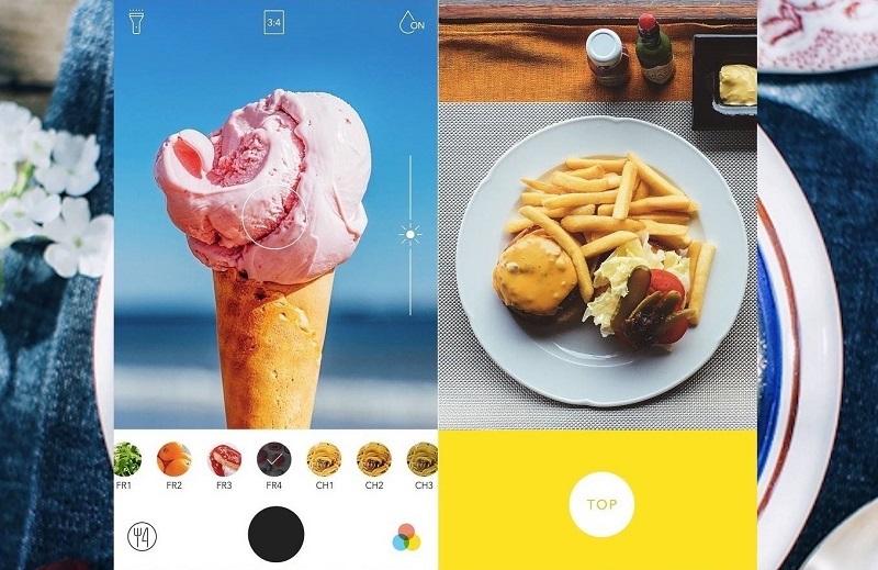 App chụp đồ ăn ấn tượng