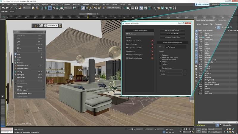 3DSMax hữu ích trong thiết kế nội ngoại thất