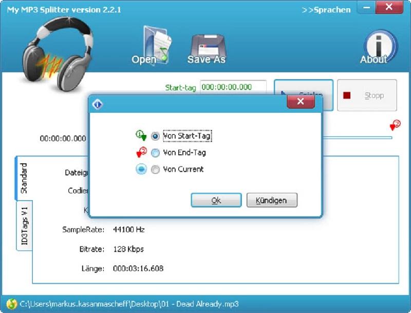 Phần mềm My Mp3 Splitter