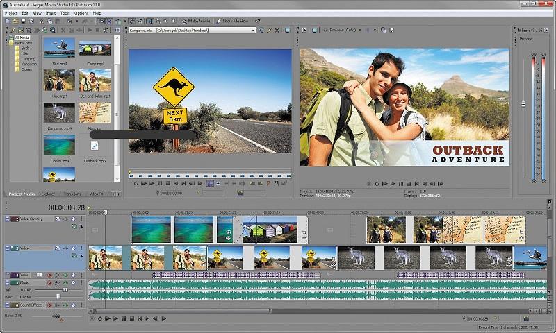 Edit video với phần mềm Sony chuyên nghiệp