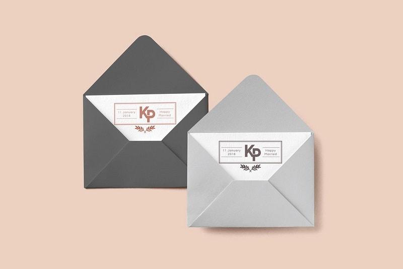 Mẫu 9: Kiểu bao thư đựng thiệp cưới phổ biến hiện nay