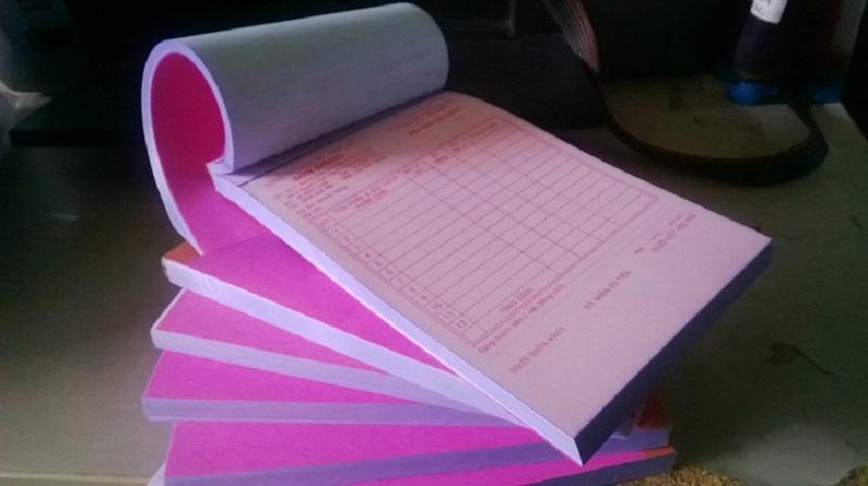 Mẫu 9: Mẫu hóa đơn bán lẻ liên hồng dùng phổ biến