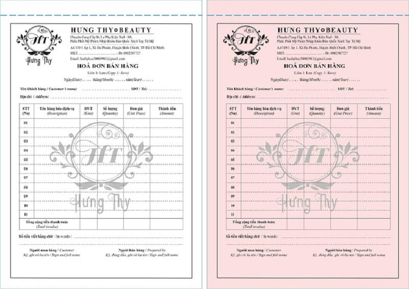 Nhận tư vấn mẫu hóa đơn phù hợp với nhu cầu dùng