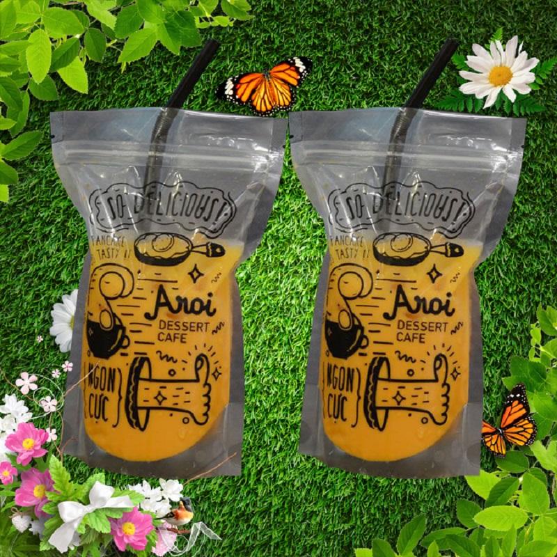 Mẫu túi zip đựng trà sữa phổ biến