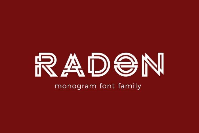 Mẫu chữ Radon với thiết kế độc đáo ấn tượng