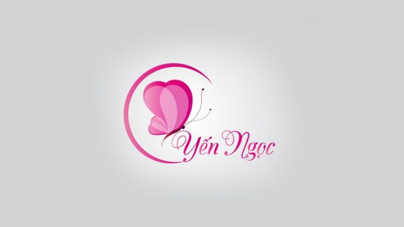Logo độc đáo với hình bướm cách điệu của Yến Ngọc Spa