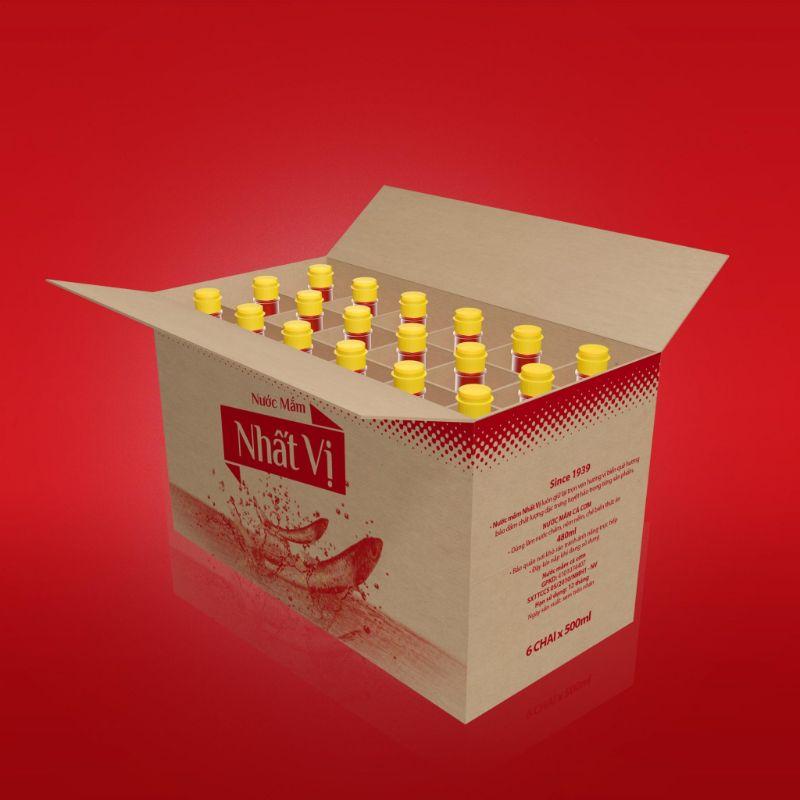 Hình 5: Mẫu bao bì thực phẩm thùng carton