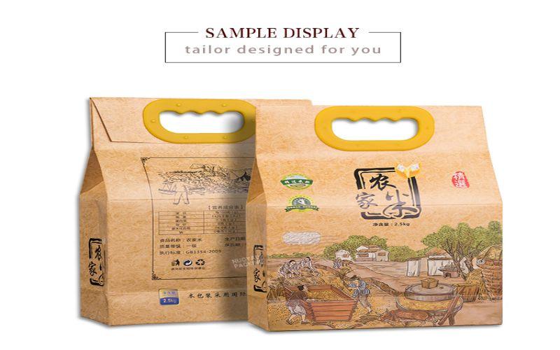 Hình 7: Bao bì gạo dạng phức hợp ấn tượng riêng