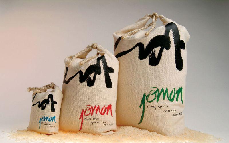 Hình 8: Bao bì gạo túi vải tinh tế