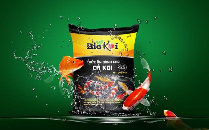 Mẫu bao bì nhựa PP thức ăn cá Koi